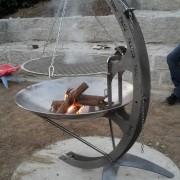 Blechkonstruktion Feuerstelle