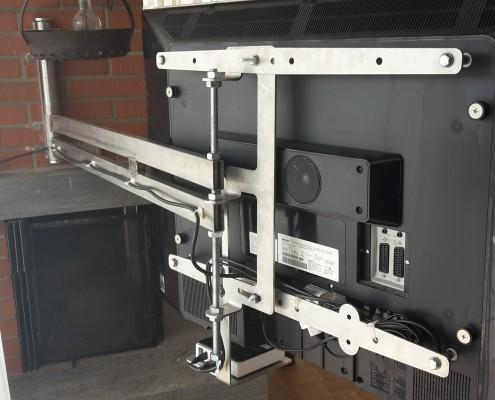 Blechkonstruktion für Fernsehhalterung