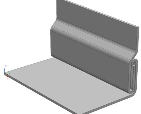 Steckbare Eckverbindung aus Blech
