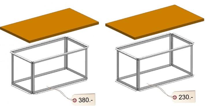 Blechkonstruktion Tipp - Verschiedene Bauteile