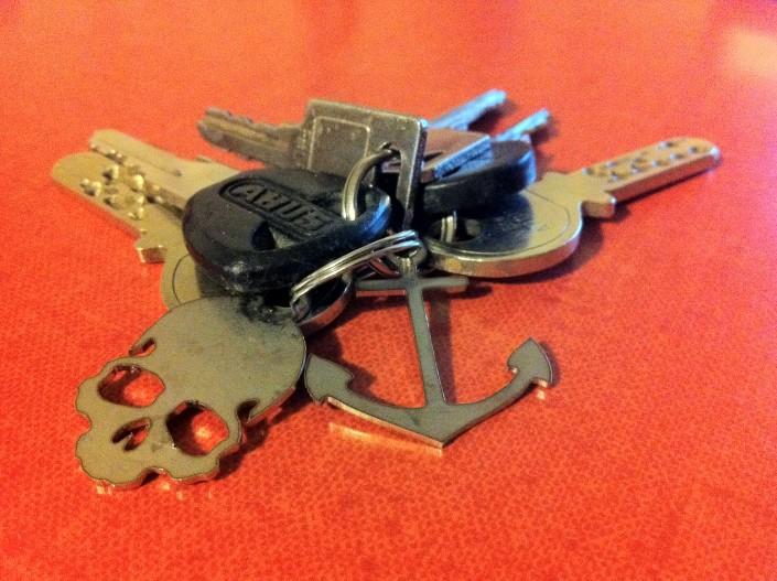 Lasergeschnittener Schlüsselanhänger