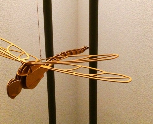 Libelle - Aluminium eloxiert - Gold